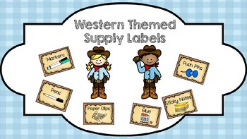 Western Themed Supply Labels
