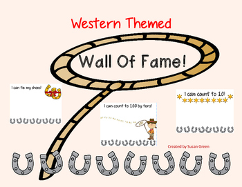 Western Themed Wall of Fame