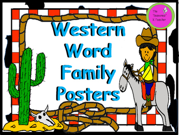 Western Themed Word Family Posters