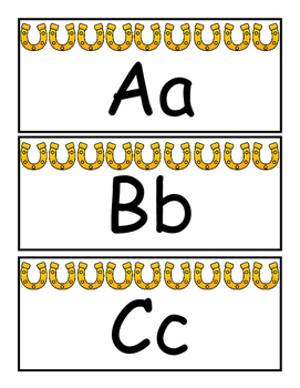 Western Themed Word Wall Alphabet Cards with Bonus Alphabet Matching Game!