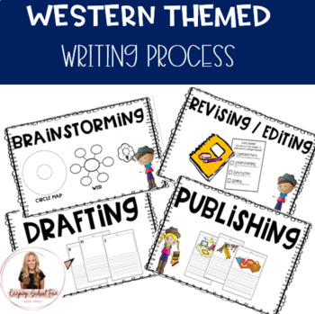 Western Themed: Writing Process Posters