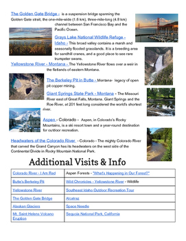 Western United States Region Sightseeing Tour - Virtual Field Trip Guide