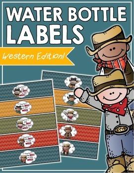 Western Water Bottle Labels