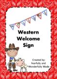 Western Welcom Banner