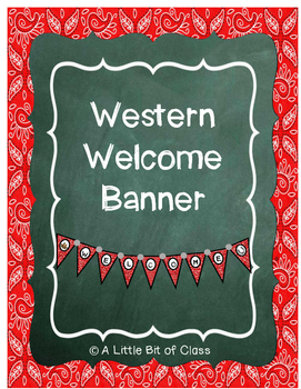 Western Welcome Banner Classroom Decorations