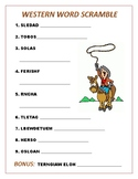 Western Word Scramble