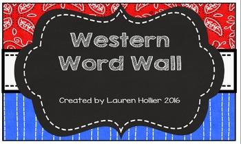 Western Word Wall