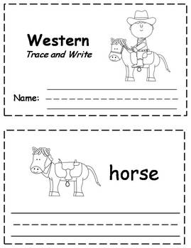 Western Words Trace & Write Book