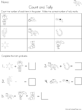 Graph and Tally Poster Set: Western Pictures