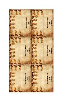 Western behavior punch cards