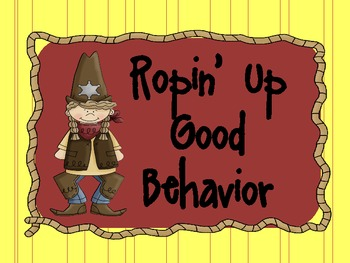 Western or Cowboy Theme Behavior Clip Chart