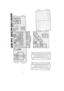 Western saloon papercraft