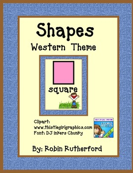 Western  Rodeo theme Shapes posters