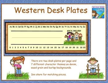 Western theme desk name plates