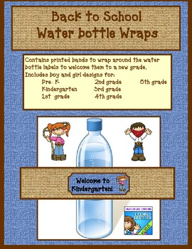 Western theme water bottle wraps for Back to School