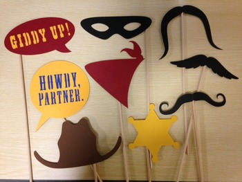 Western/Cowboy Photo Booth Props {Silhouette Cut File}