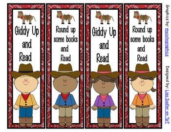 Western/Cowboy Themed Bookmarks - 4 Designs