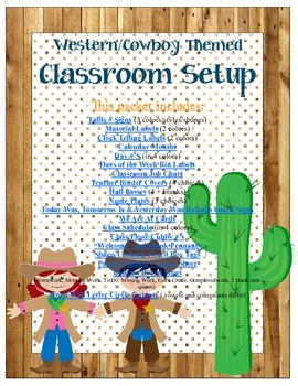 Western/Cowboy Themed Classroom Bundle