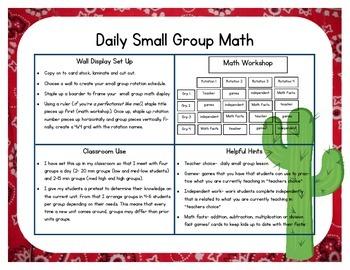 Western/Cowboy Themed Classroom Small Group Math Center/ Workshop Setup