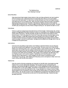 Westing Game Alternate Endings Assignment