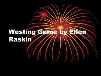Westing Game Vocabulary - Over 100 words! Common Core (Tex