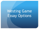 Westing Game Essay Assignment