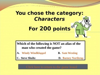 Westing Game Jeopardy