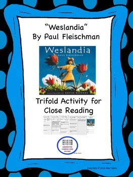 """Westlandia"" Trifold Activity McGraw Hill Reading Wonders 5th Grade"