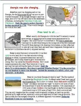 Georgia Studies: Westward Expansion Interactive Reading Guide