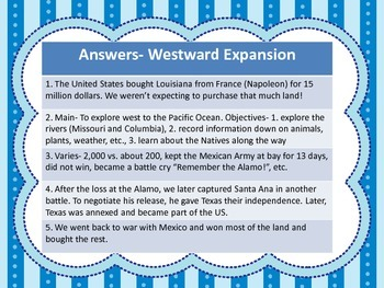 Westward Expansion & Abolitionist/Suffrage Task Cards - 4th Grade