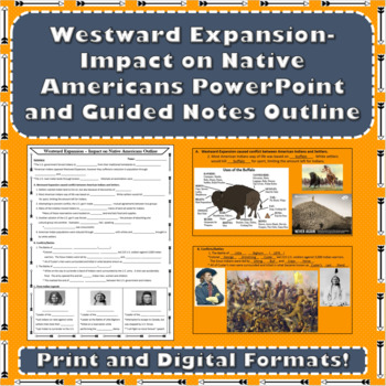 Westward Expansion - American Indians PowerPoint with Guided Notes Outline