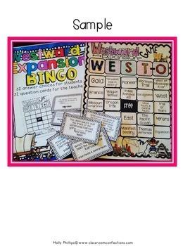 Westward Expansion BINGO Game