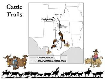 Westward Expansion - Cattle Trails