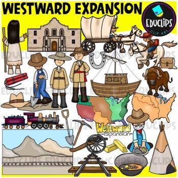 Westward Expansion Clip Art Bundle {Educlips Clipart}