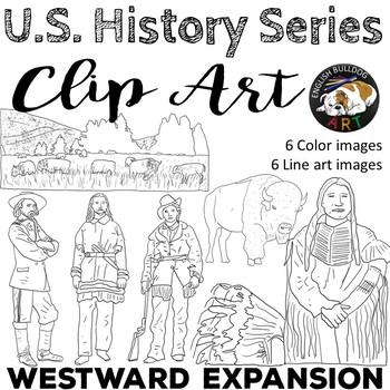 Westward Expansion Clip Art Set 1