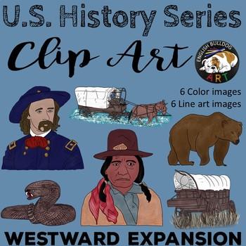 Westward Expansion Clip Art Set 2