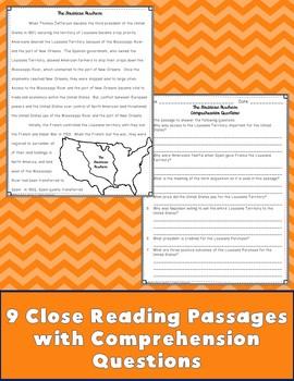 Westward Expansion Close Reading Passages {Digital & PDF Included}