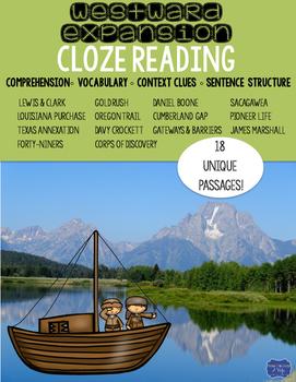Westward Expansion Cloze Reading Activity Bundle