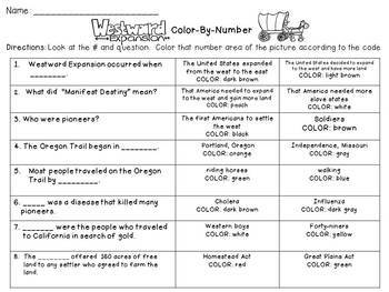 Westward Expansion Color-By-Number