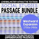 Westward Expansion BUNDLE: Differentiated Reading Passages