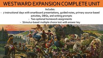 Westward Expansion Complete Unit