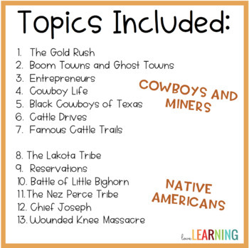 Distance Learning: Westward Expansion Unit with Interactive Notes
