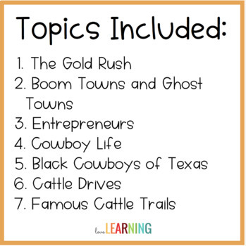 Westward Expansion: Cowboys and Miners PowerPoint Lesson (with Guided Notes)