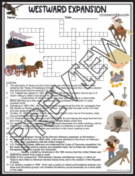 Westward Expansion Crossword Puzzle and Word Search Find Activities
