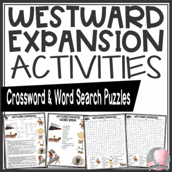 Westward Expansion Activities Crossword Puzzle and Word Search Find