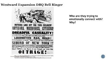 Westward Expansion DBQ Bell Ringers