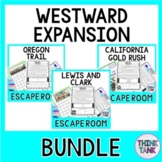 Westward Expansion ESCAPE ROOMS BUNDLE -Oregon Trail, Gold Rush, Lewis&Clark
