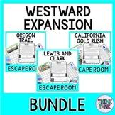 Westward Expansion ESCAPE ROOMS BUNDLE -Oregon Trail, Gold Rush, Lewis&Clark