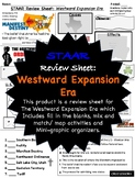 Westward Expansion Era, STAAR Review Sheet