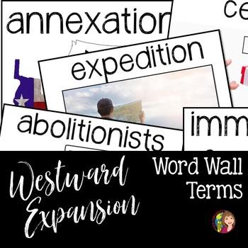 Westward Expansion Era Word Wall Terms